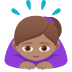 🙇🏽♀️ woman bowing: medium skin tone Emoji on Joypixels Platform