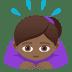🙇🏾♀️ woman bowing: medium-dark skin tone Emoji on Joypixels Platform