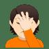 🤦🏻 person facepalming: light skin tone Emoji on Joypixels Platform