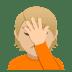 🤦🏼 person facepalming: medium-light skin tone Emoji on Joypixels Platform