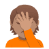 🤦🏽 person facepalming: medium skin tone Emoji on Joypixels Platform