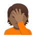 🤦🏾 person facepalming: medium-dark skin tone Emoji on Joypixels Platform