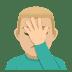 🤦🏼♂️ Medium Light Skin Tone Man Facepalming Emoji on JoyPixels Platform