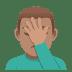 🤦🏽♂️ man facepalming: medium skin tone Emoji on Joypixels Platform