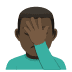 🤦🏿‍♂️ man facepalming: dark skin tone Emoji on Joypixels Platform