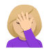 🤦🏼‍♀️ woman facepalming: medium-light skin tone Emoji on Joypixels Platform
