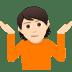 🤷🏻 person shrugging: light skin tone Emoji on Joypixels Platform