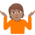 🤷🏽 person shrugging: medium skin tone Emoji on Joypixels Platform