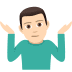 🤷🏻♂️ man shrugging: light skin tone Emoji on Joypixels Platform