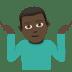 🤷🏿♂️ man shrugging: dark skin tone Emoji on Joypixels Platform