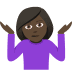 🤷🏿‍♀️ woman shrugging: dark skin tone Emoji on Joypixels Platform
