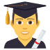 👨‍🎓 Male Student Emoji on JoyPixels Platform