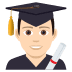 👨🏻‍🎓 man student: light skin tone Emoji on Joypixels Platform