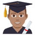 👨🏽‍🎓 Medium Skin Tone Male Student Emoji on JoyPixels Platform