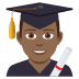 👨🏾‍🎓 man student: medium-dark skin tone Emoji on Joypixels Platform