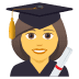 👩‍🎓 woman student Emoji on Joypixels Platform