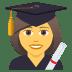 👩🎓 woman student Emoji on Joypixels Platform