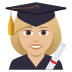 👩🏼‍🎓 woman student: medium-light skin tone Emoji on Joypixels Platform