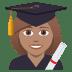 👩🏽🎓 woman student: medium skin tone Emoji on Joypixels Platform