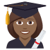👩🏾🎓 woman student: medium-dark skin tone Emoji on Joypixels Platform