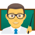 👨‍🏫 man teacher Emoji on Joypixels Platform