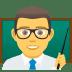 👨🏫 man teacher Emoji on Joypixels Platform