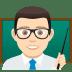👨🏻🏫 man teacher: light skin tone Emoji on Joypixels Platform