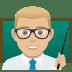 👨🏼🏫 man teacher: medium-light skin tone Emoji on Joypixels Platform