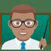 👨🏽🏫 man teacher: medium skin tone Emoji on Joypixels Platform