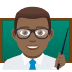 👨🏾‍🏫 man teacher: medium-dark skin tone Emoji on Joypixels Platform