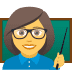 👩‍🏫 woman teacher Emoji on Joypixels Platform