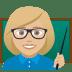 👩🏼🏫 woman teacher: medium-light skin tone Emoji on Joypixels Platform