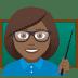 👩🏾🏫 woman teacher: medium-dark skin tone Emoji on Joypixels Platform