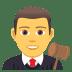 👨⚖️ man judge Emoji on Joypixels Platform