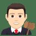 👨🏻⚖️ man judge: light skin tone Emoji on Joypixels Platform