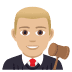 👨🏼‍⚖️ man judge: medium-light skin tone Emoji on Joypixels Platform