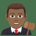 👨🏾⚖️ man judge: medium-dark skin tone Emoji on Joypixels Platform