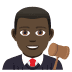 👨🏿‍⚖️ man judge: dark skin tone Emoji on Joypixels Platform