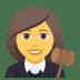 👩⚖️ woman judge Emoji on Joypixels Platform