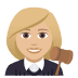 👩🏼‍⚖️ woman judge: medium-light skin tone Emoji on Joypixels Platform
