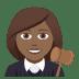 👩🏾⚖️ Medium Dark Skin Tone Female Judge Emoji on JoyPixels Platform
