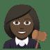 👩🏿⚖️ woman judge: dark skin tone Emoji on Joypixels Platform