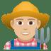 👨🏼🌾 man farmer: medium-light skin tone Emoji on Joypixels Platform