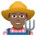 👨🏾‍🌾 man farmer: medium-dark skin tone Emoji on Joypixels Platform