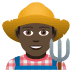 👨🏿‍🌾 man farmer: dark skin tone Emoji on Joypixels Platform