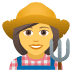 👩‍🌾 woman farmer Emoji on Joypixels Platform