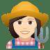 👩🏻🌾 woman farmer: light skin tone Emoji on Joypixels Platform