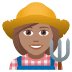 👩🏽‍🌾 woman farmer: medium skin tone Emoji on Joypixels Platform