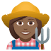 👩🏾‍🌾 woman farmer: medium-dark skin tone Emoji on Joypixels Platform