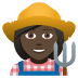 👩🏿🌾 woman farmer: dark skin tone Emoji on Joypixels Platform